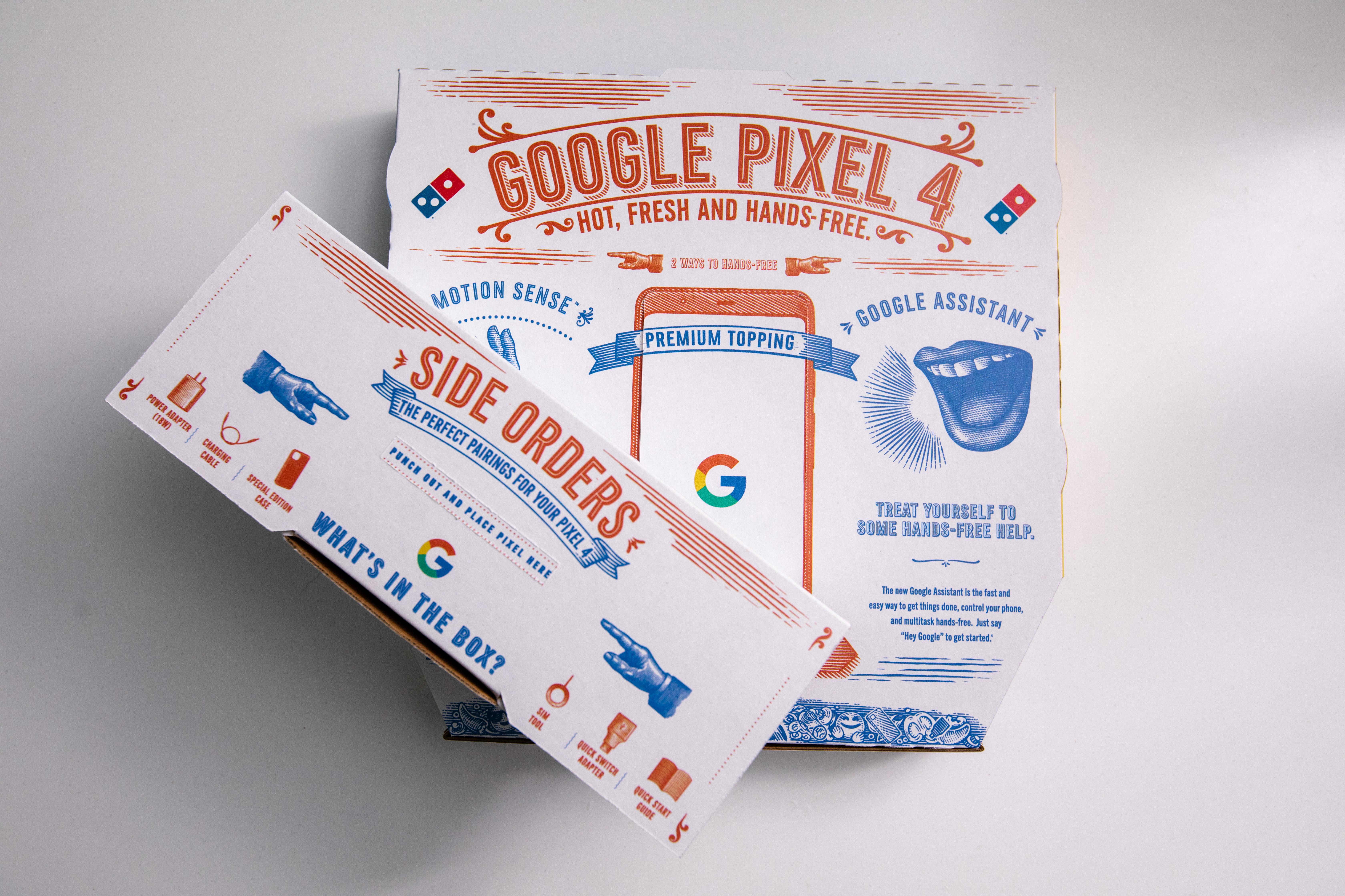 Google Domino's Pixel phone
