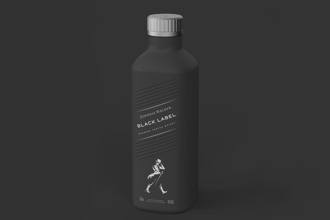 Johnnie Walker paper bottle