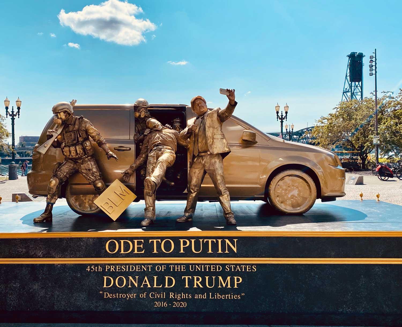 """Ode to Putin"" Trump statue"