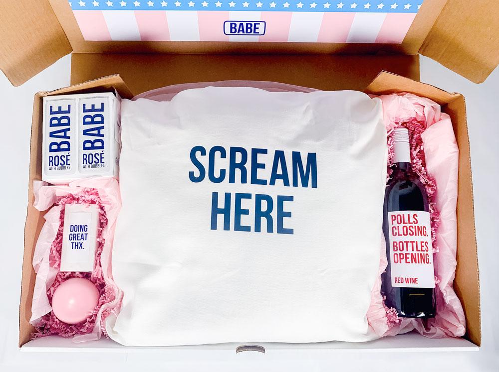 Babe wine election survival kit
