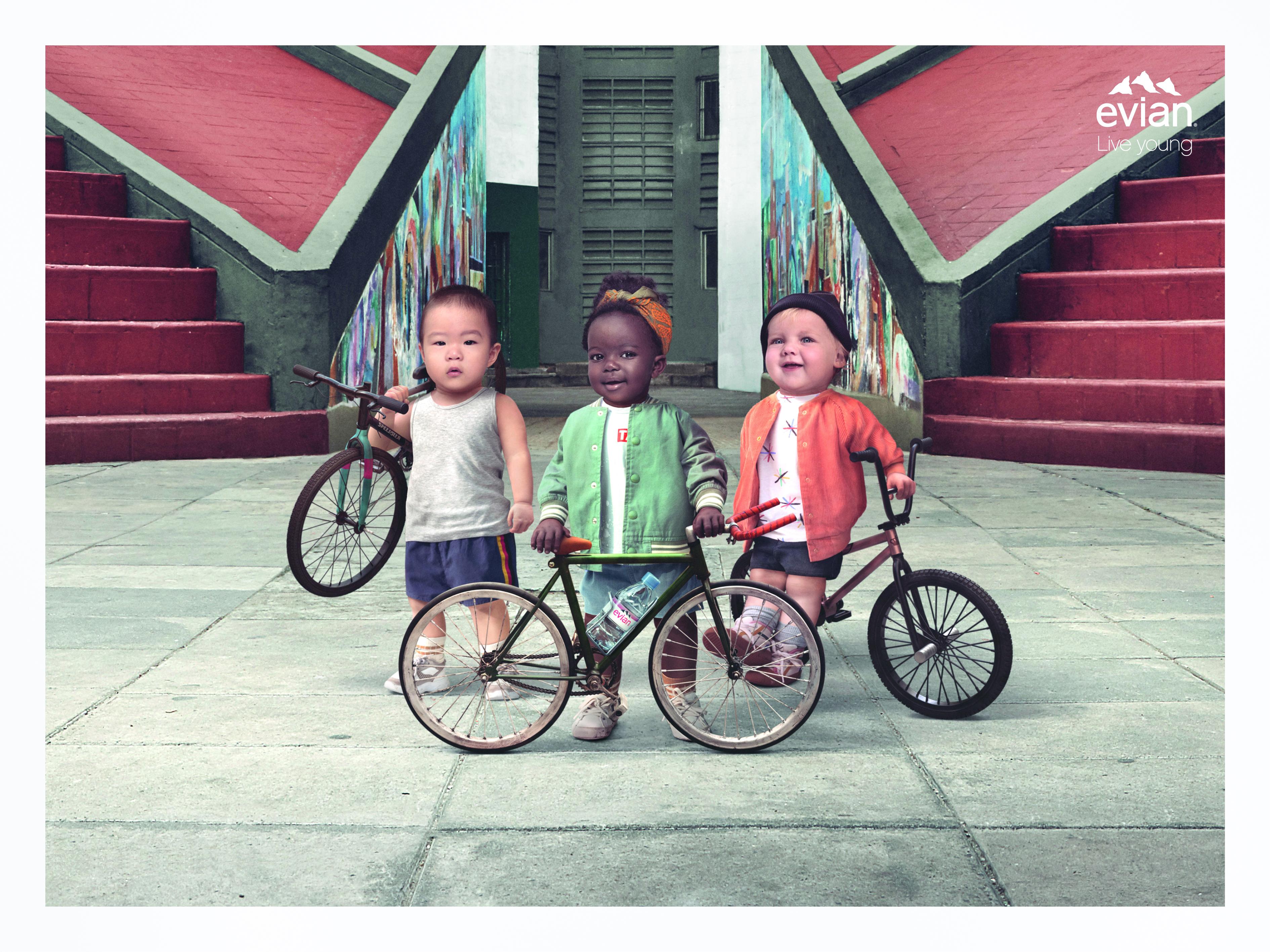 Evian Biker Babies