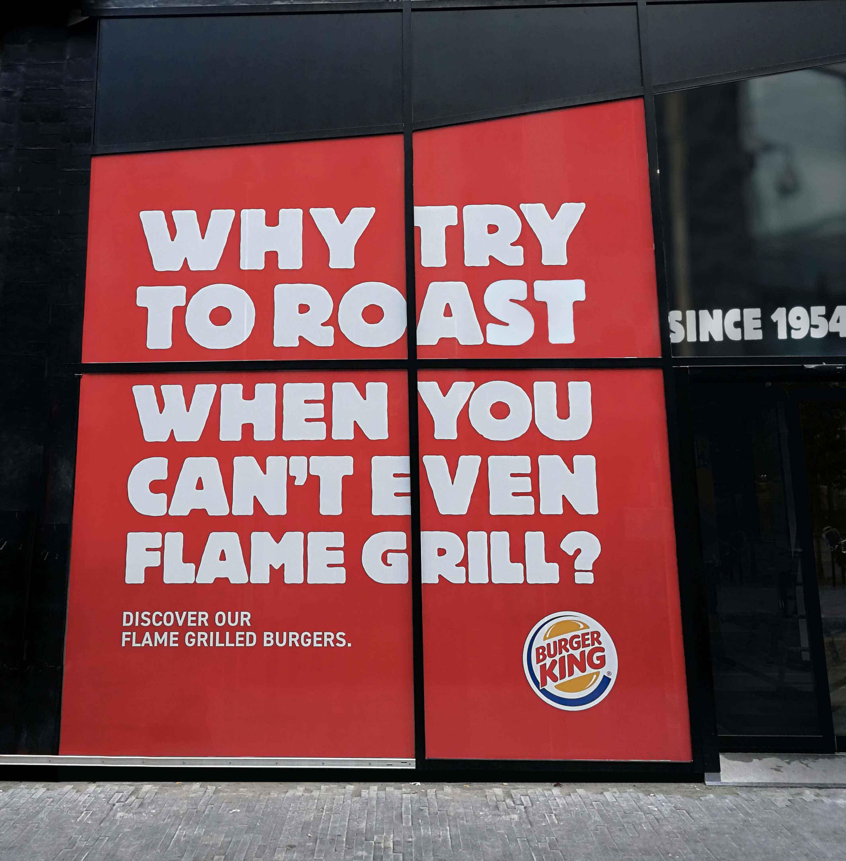 Burger King responds to McDonald's ad
