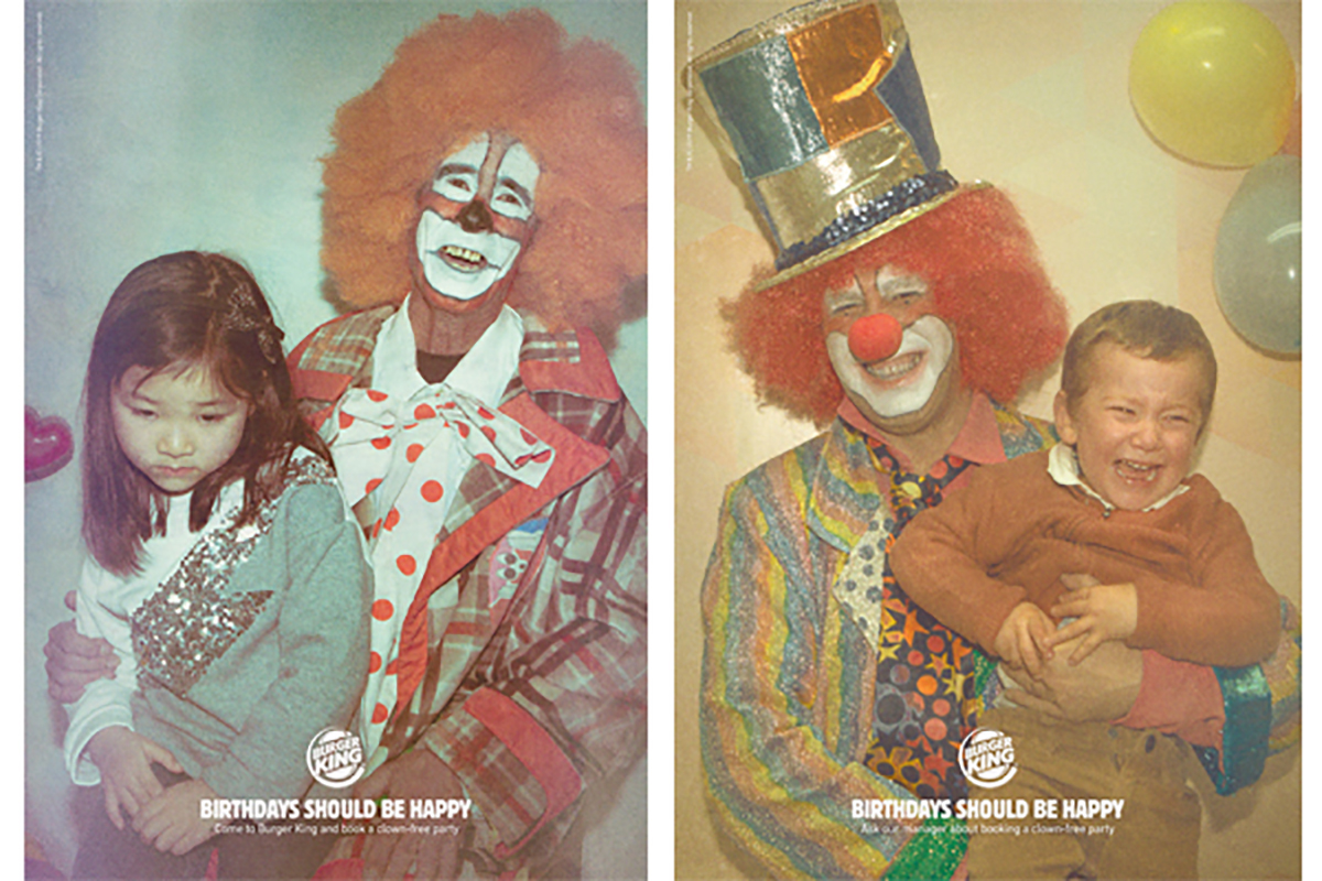 Burger King Clown-Free Birthday ads
