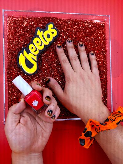 Cheetos manicure