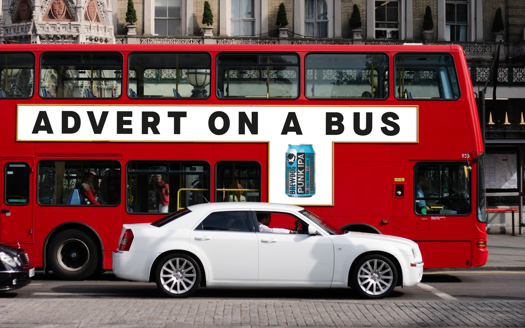 Brewdog advert on a bus