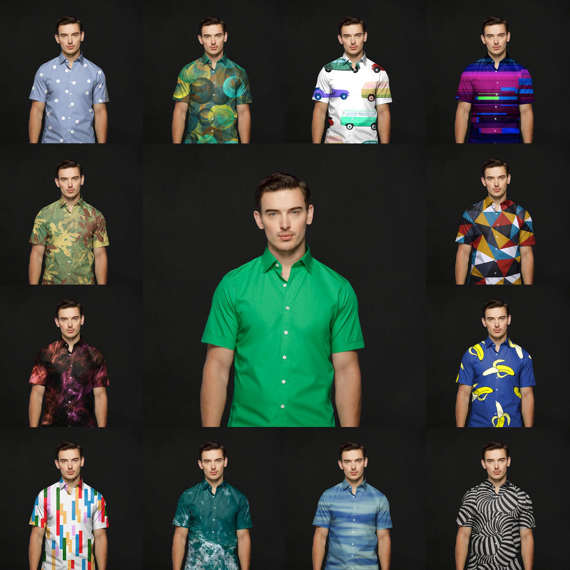 Harry Rosen's exclusive Green Screen Shirt designs