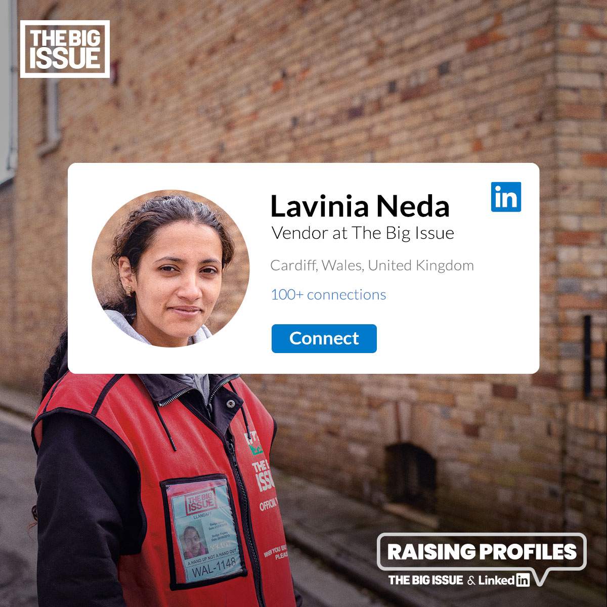 The Big Issue vendor - Lavinia Neda