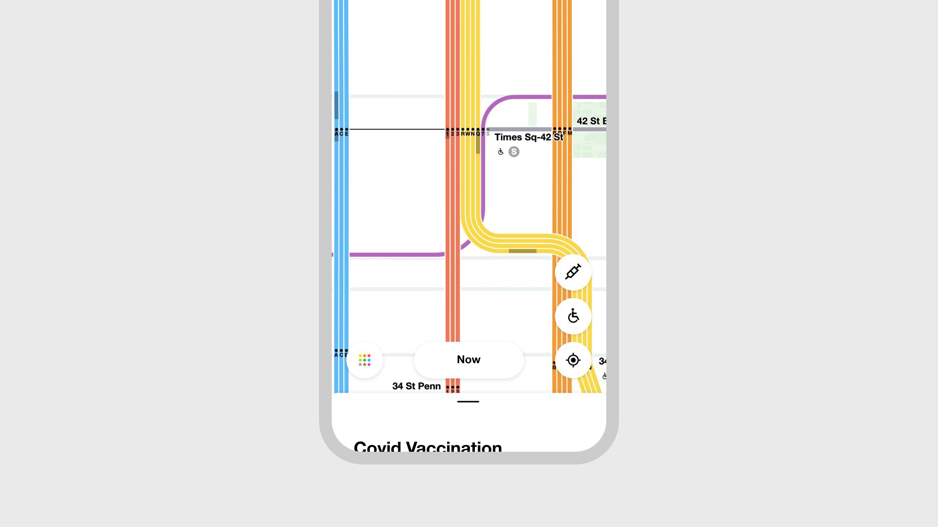 MTA Vaccine app screen 2
