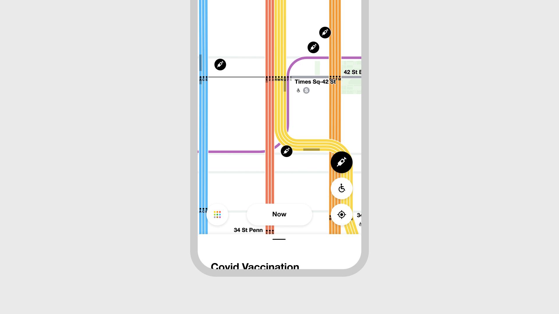 MTA Vaccine app screen 3