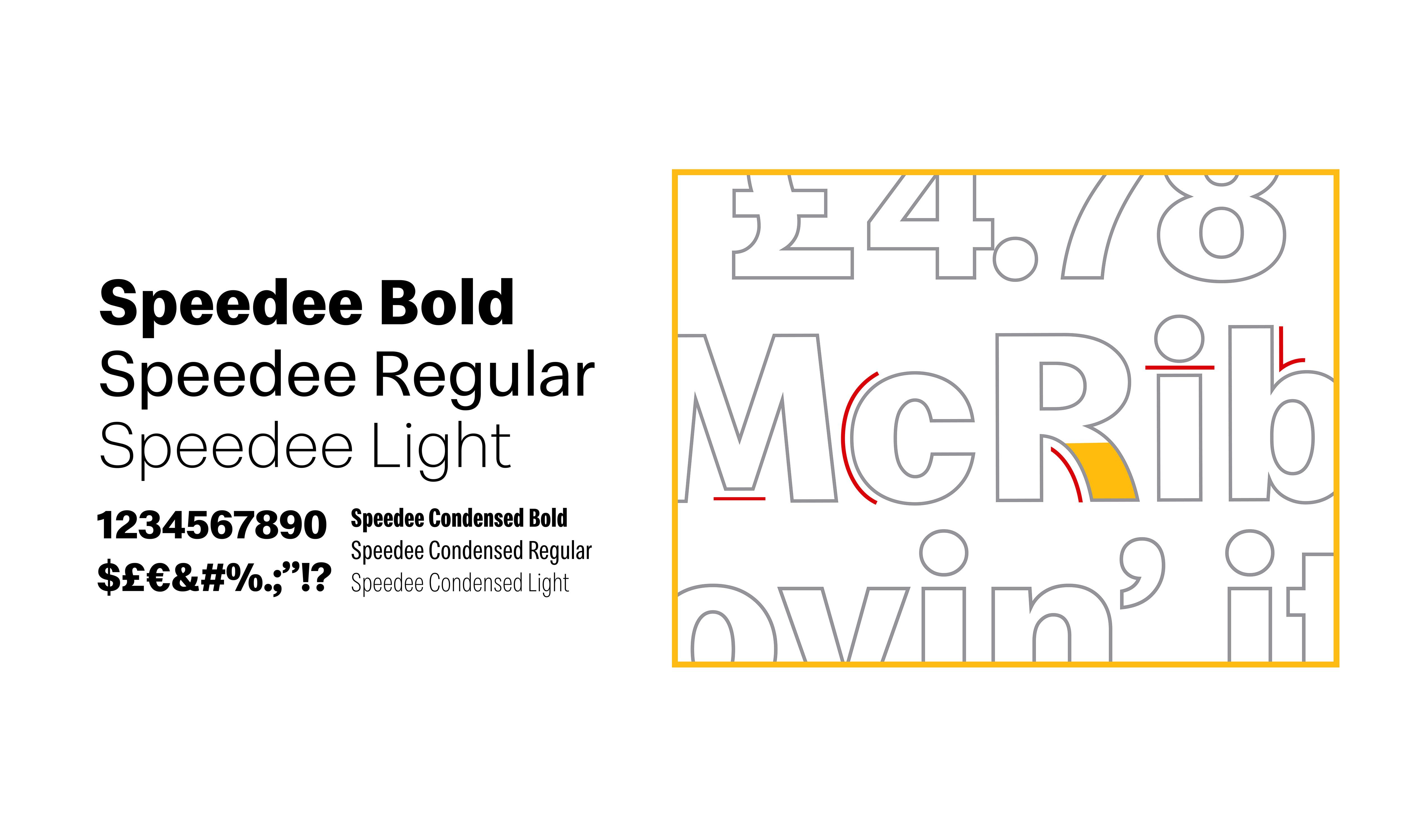 McDonald's Speedee Typeface