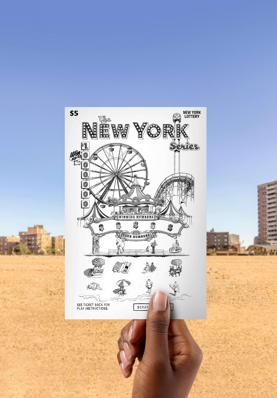 Drawing of an amusement park