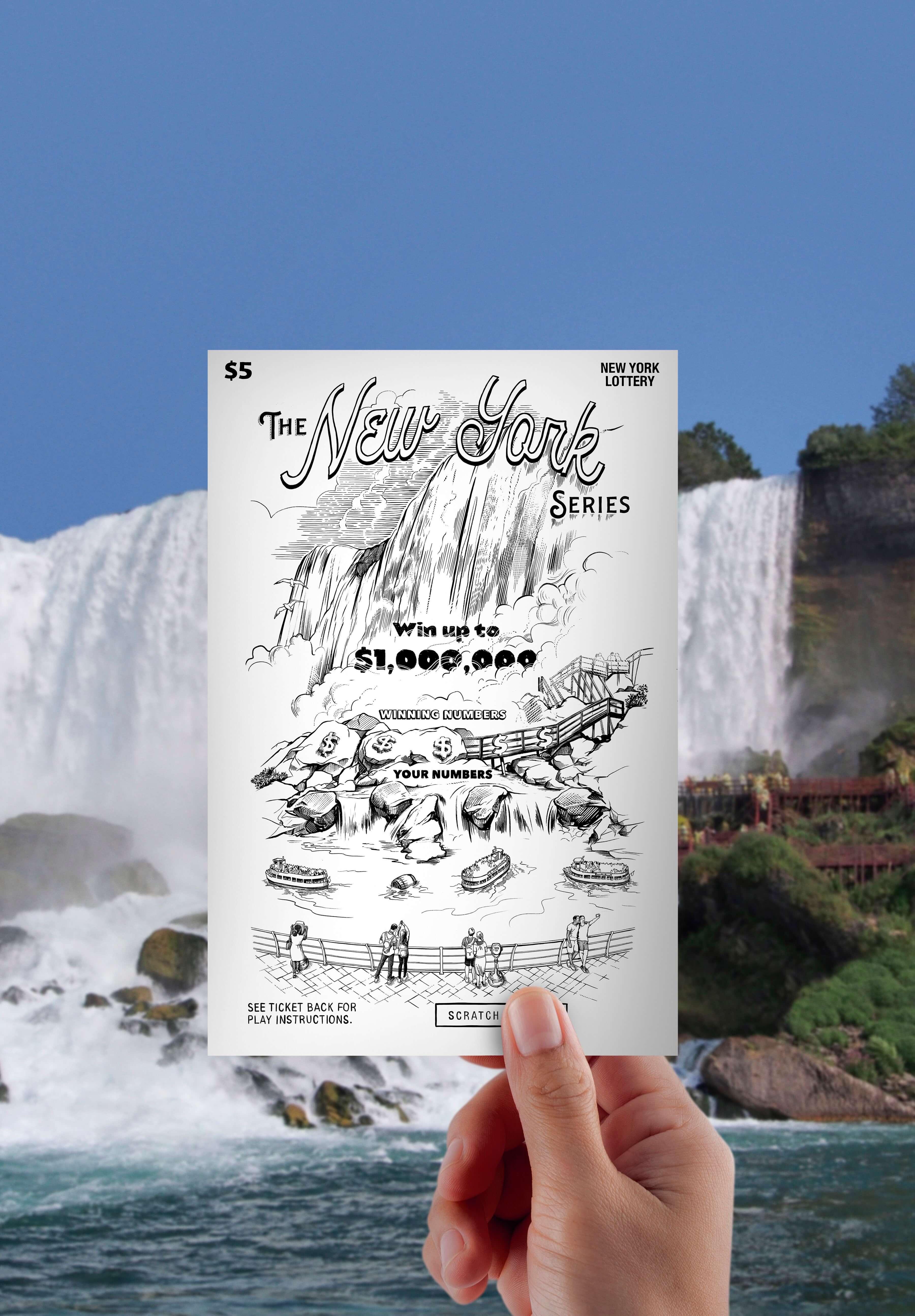 Drawing of Niagara Falls