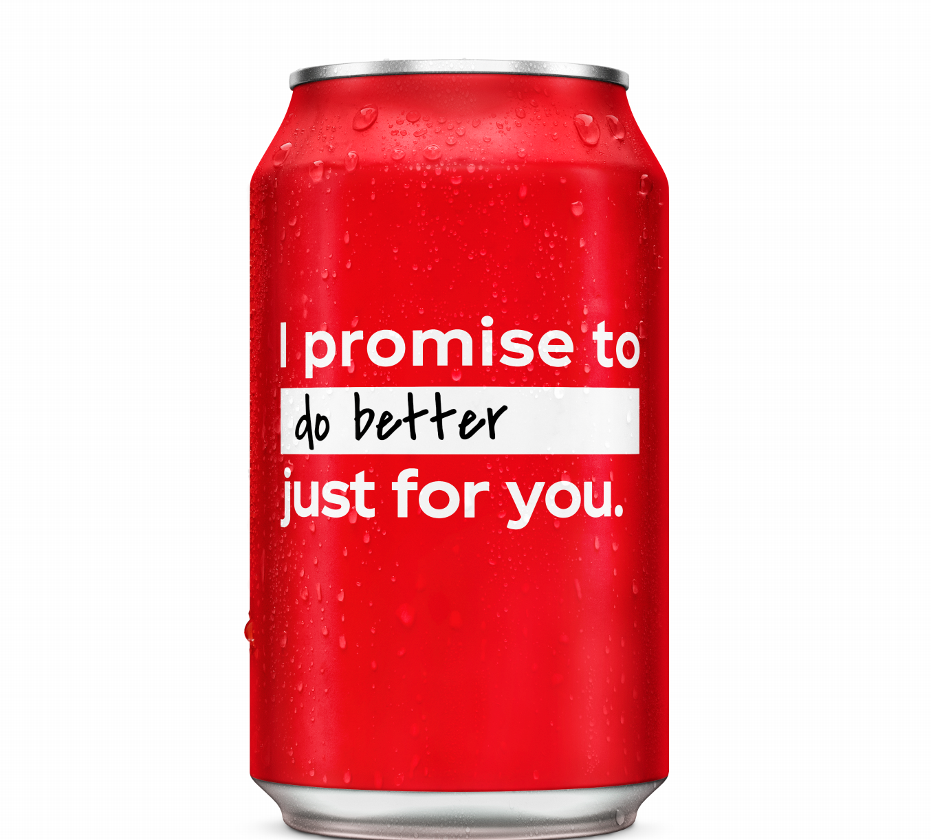 Coke can with the 'Do Better' resolution written on it.