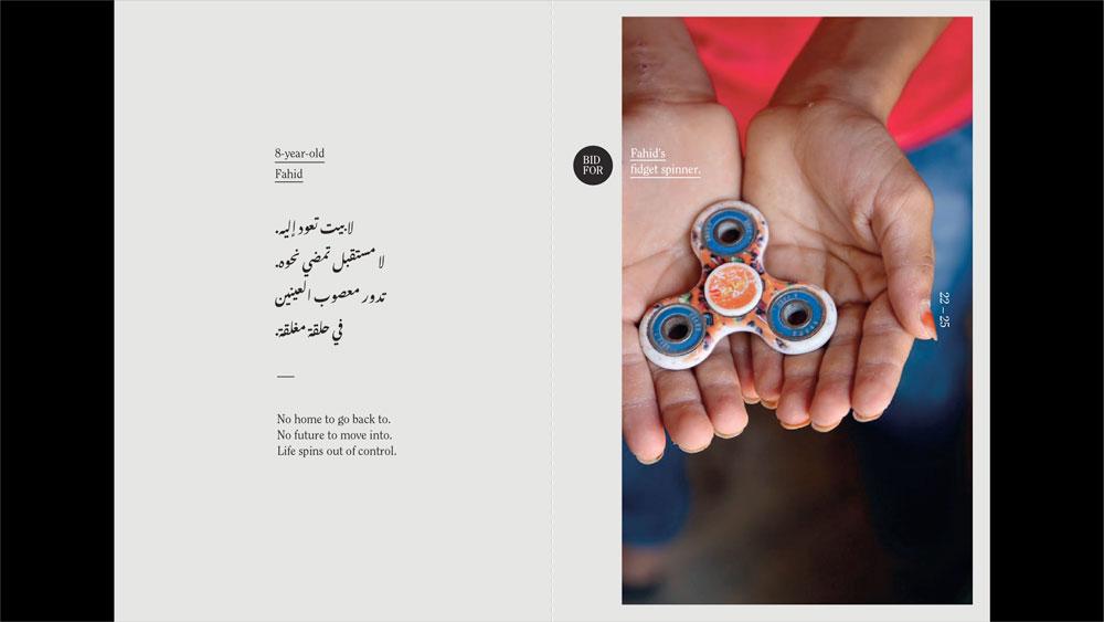 Child holding fidget spinner