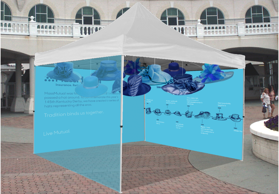 Mass Mutual's hat exhibition at the Kentucky Derby