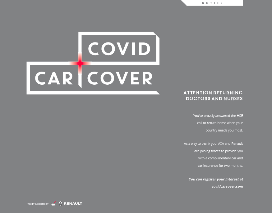 Renault and AXA Covid Car Cover