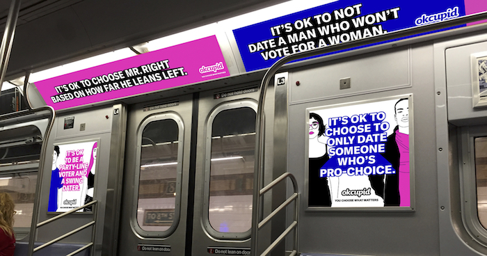 OKCupid subway ads