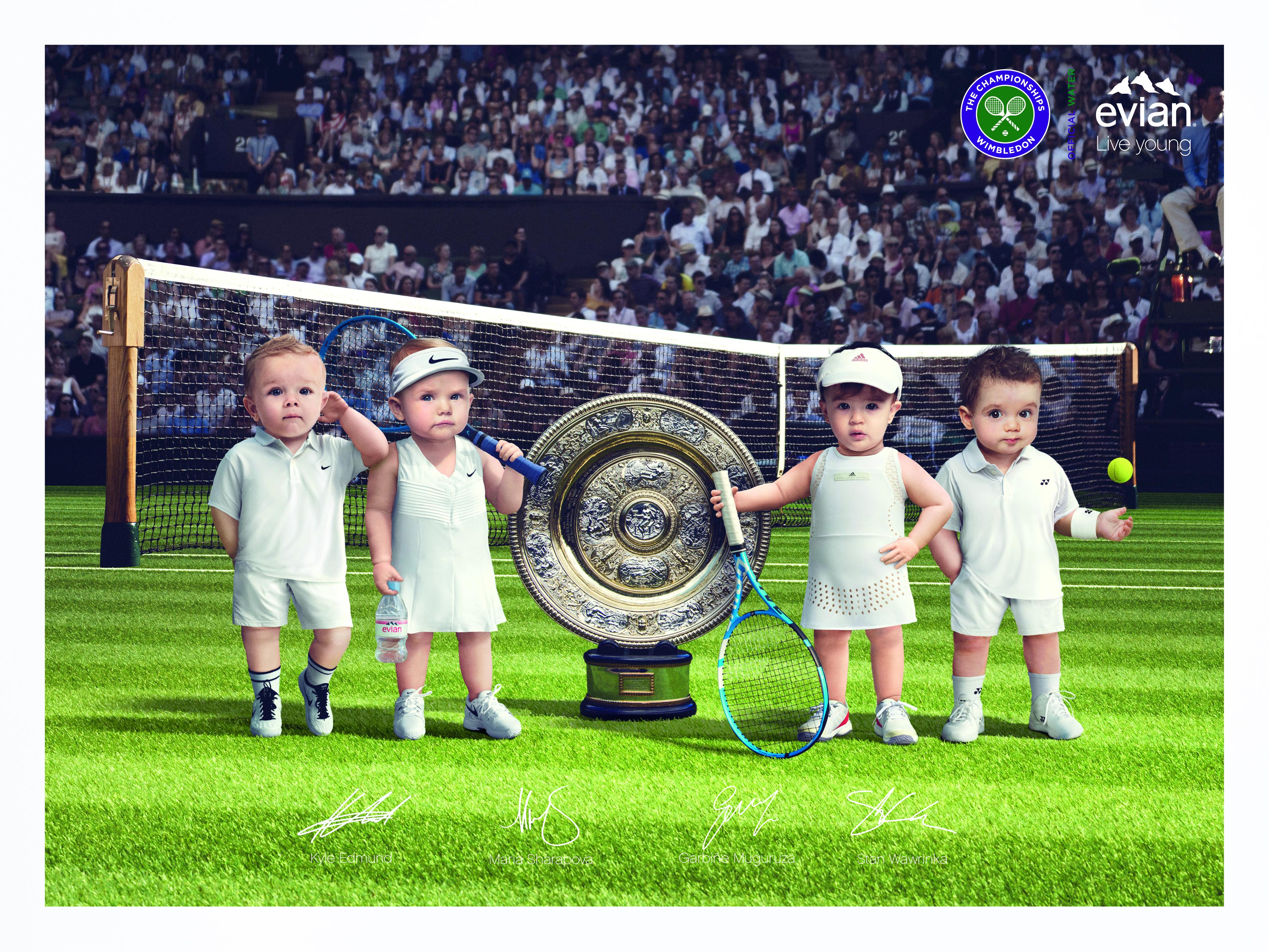 Evian Tennis Babies