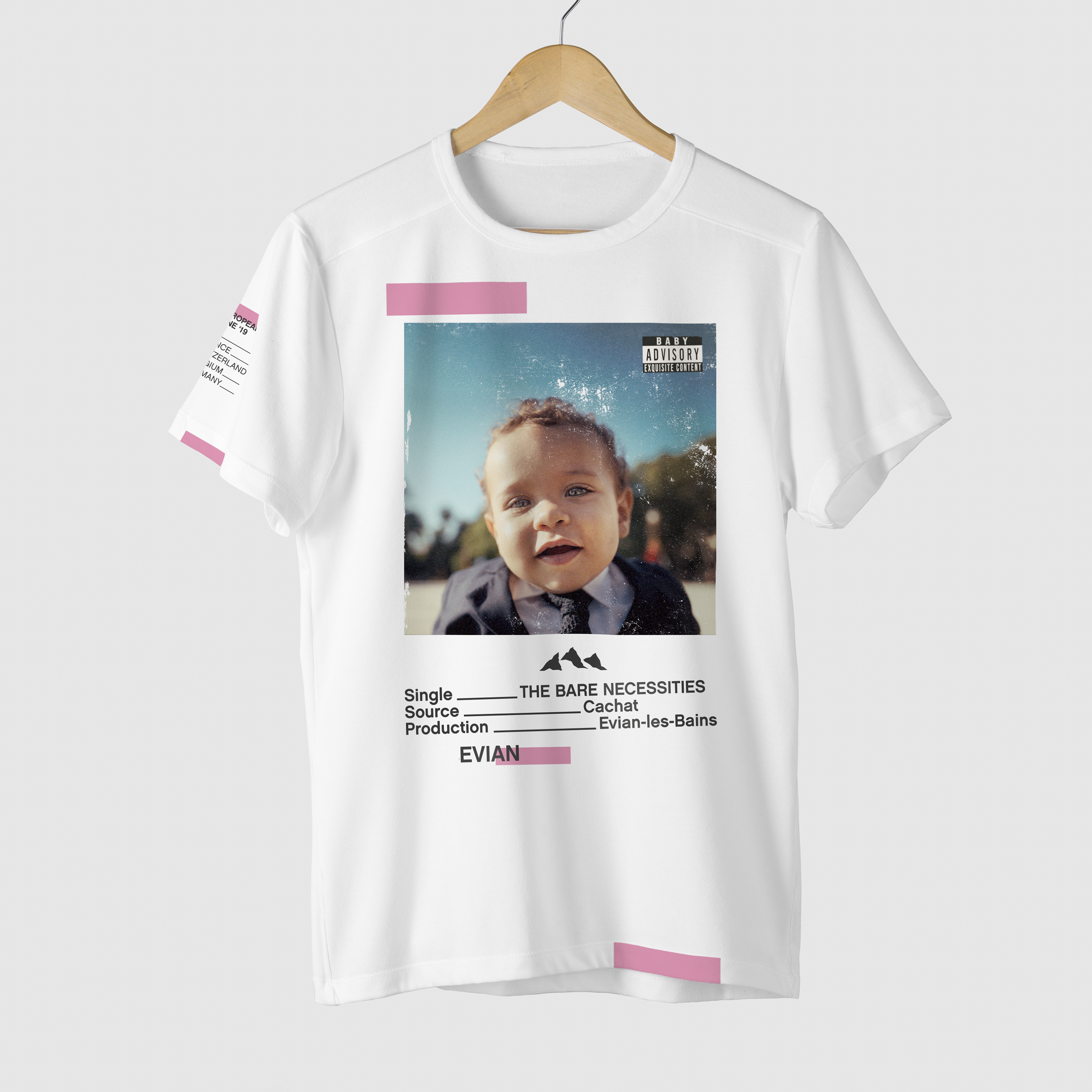 Evian 'Baby Bare Necessities' t-shirt