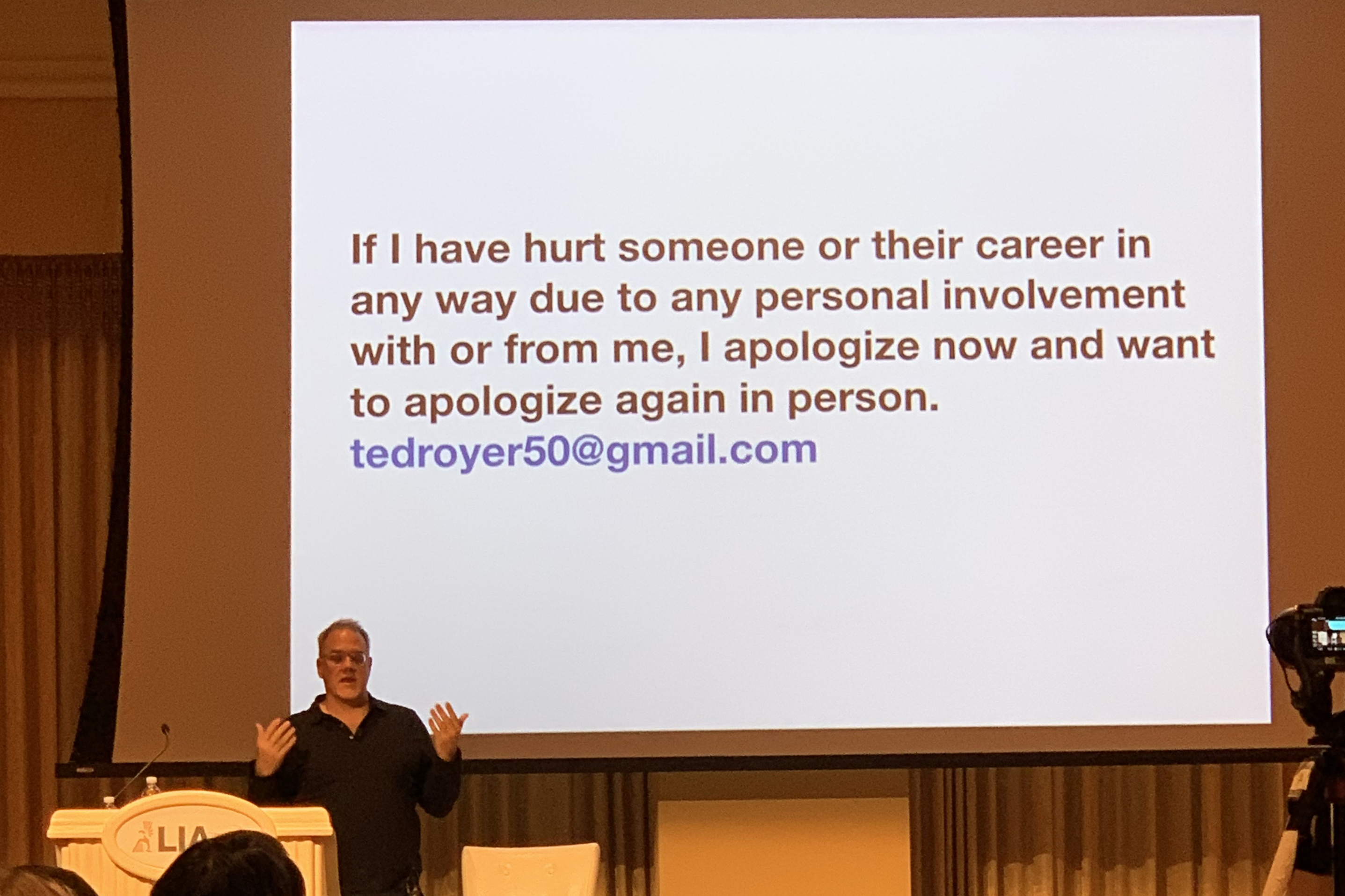 Ted Royer LIA apology