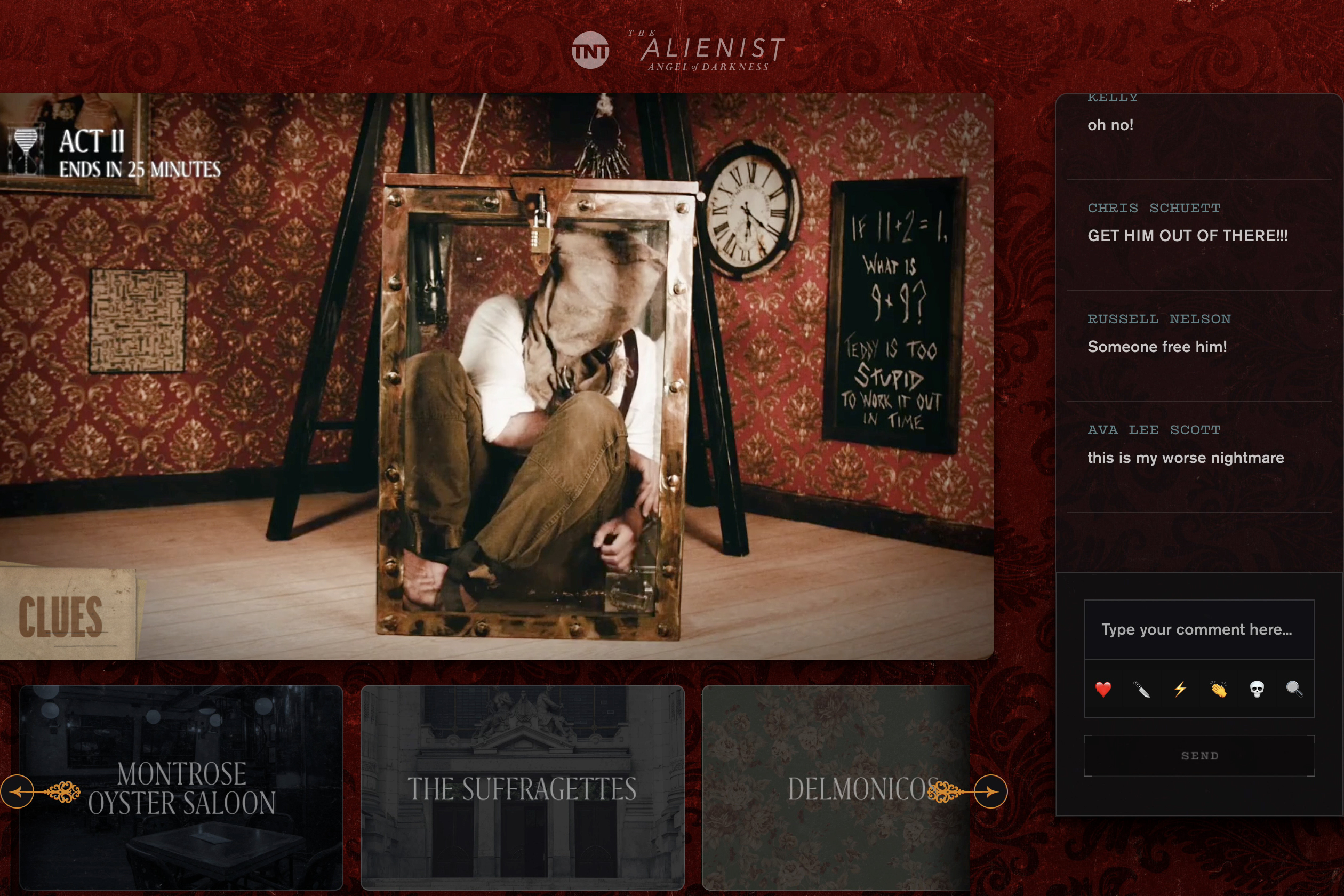 The Alienist interactive murder mystery