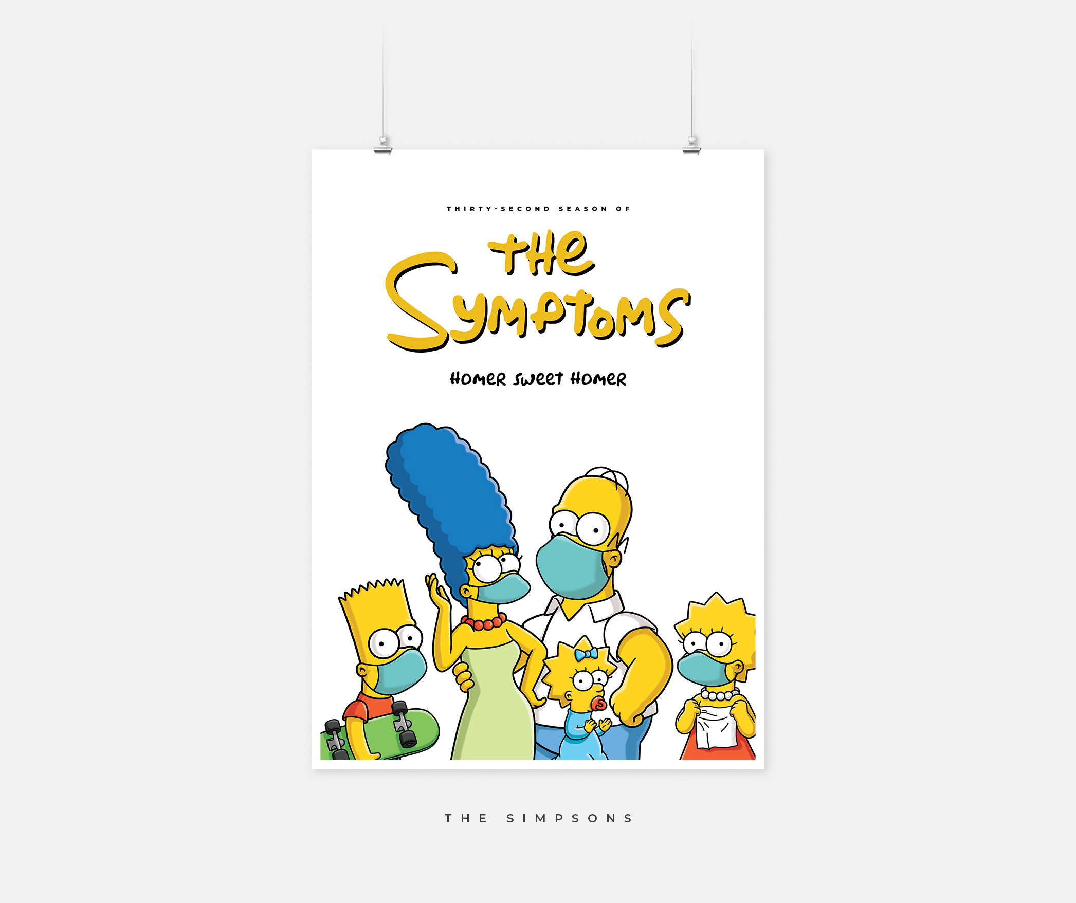"""A Simpsons poster with the text """"The Symptoms"""""""