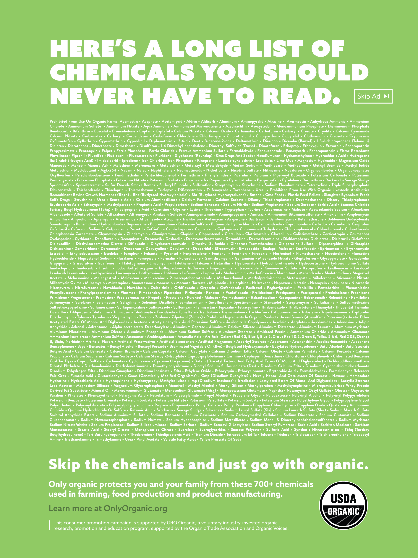 Organic Voices Print Ad