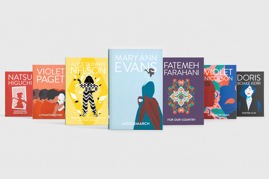 7 novels displayed with their cover redesigns.