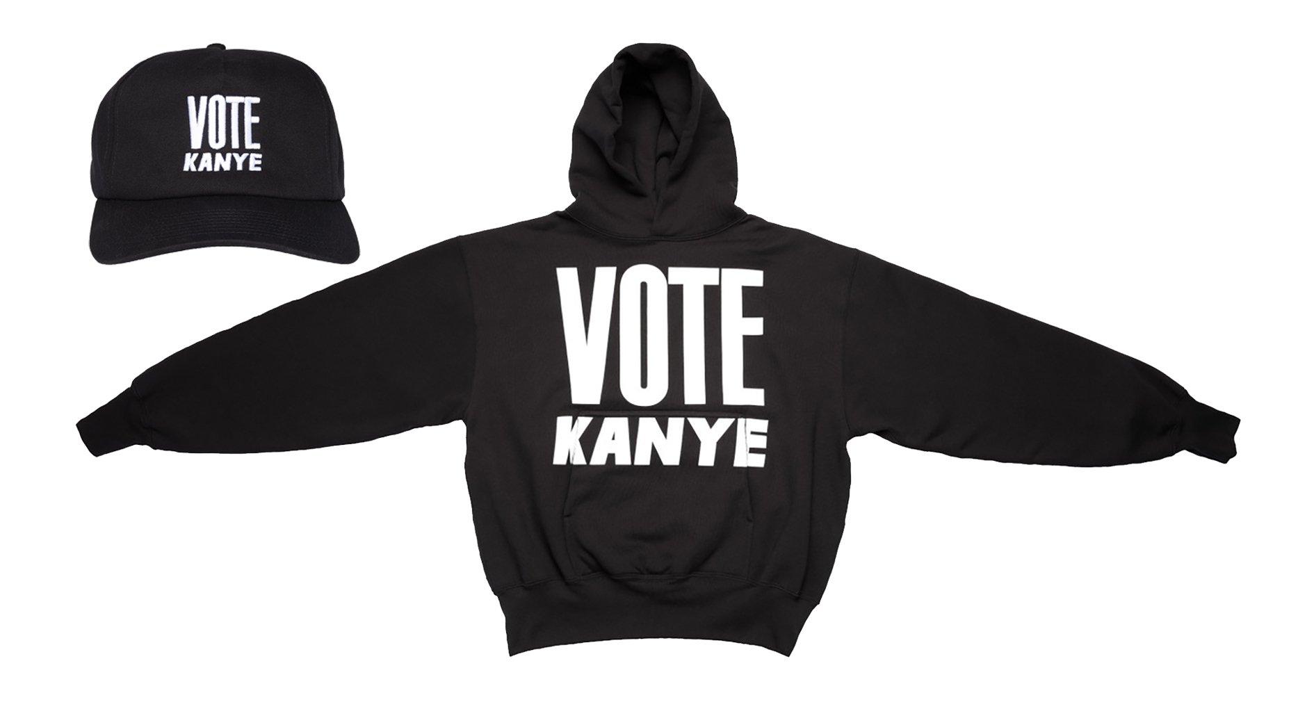 Vote Kanye hat and hoodie