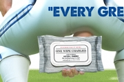 Butt Wipes Sign Rare Endorsers: NFL Centers