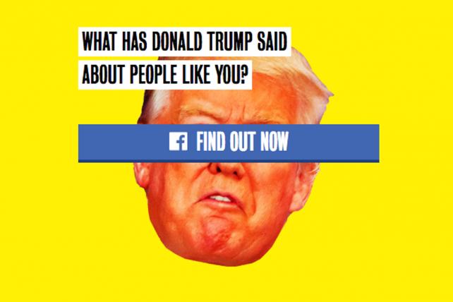 Clinton's Silly 'Trump Yourself' Facebook App Has Serious Data-Collecting Goal