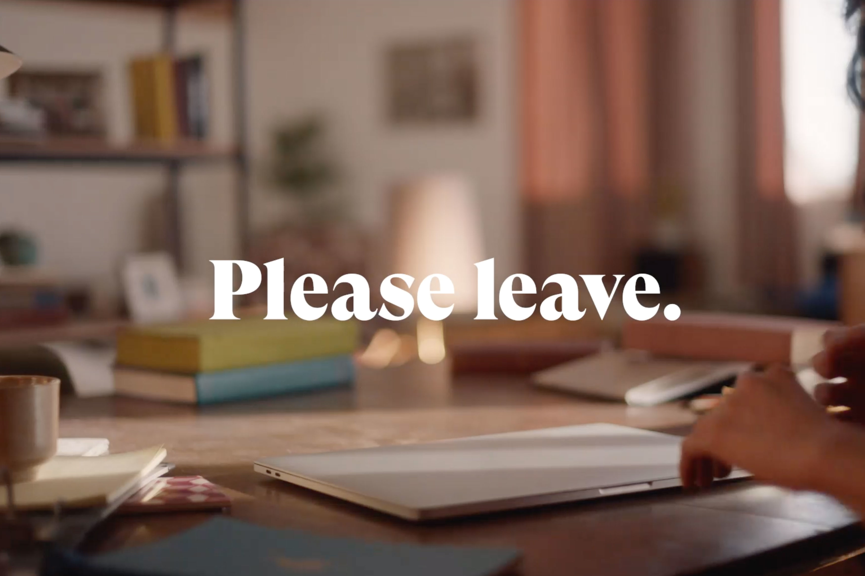WeTransfer: Please Leave