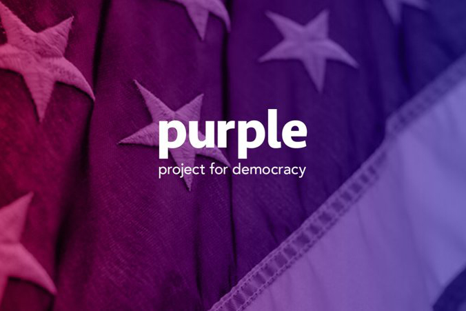 The Purple Project for Democracy wants to restore faith in 'the American way.' Bob Garfield explains how, exactly