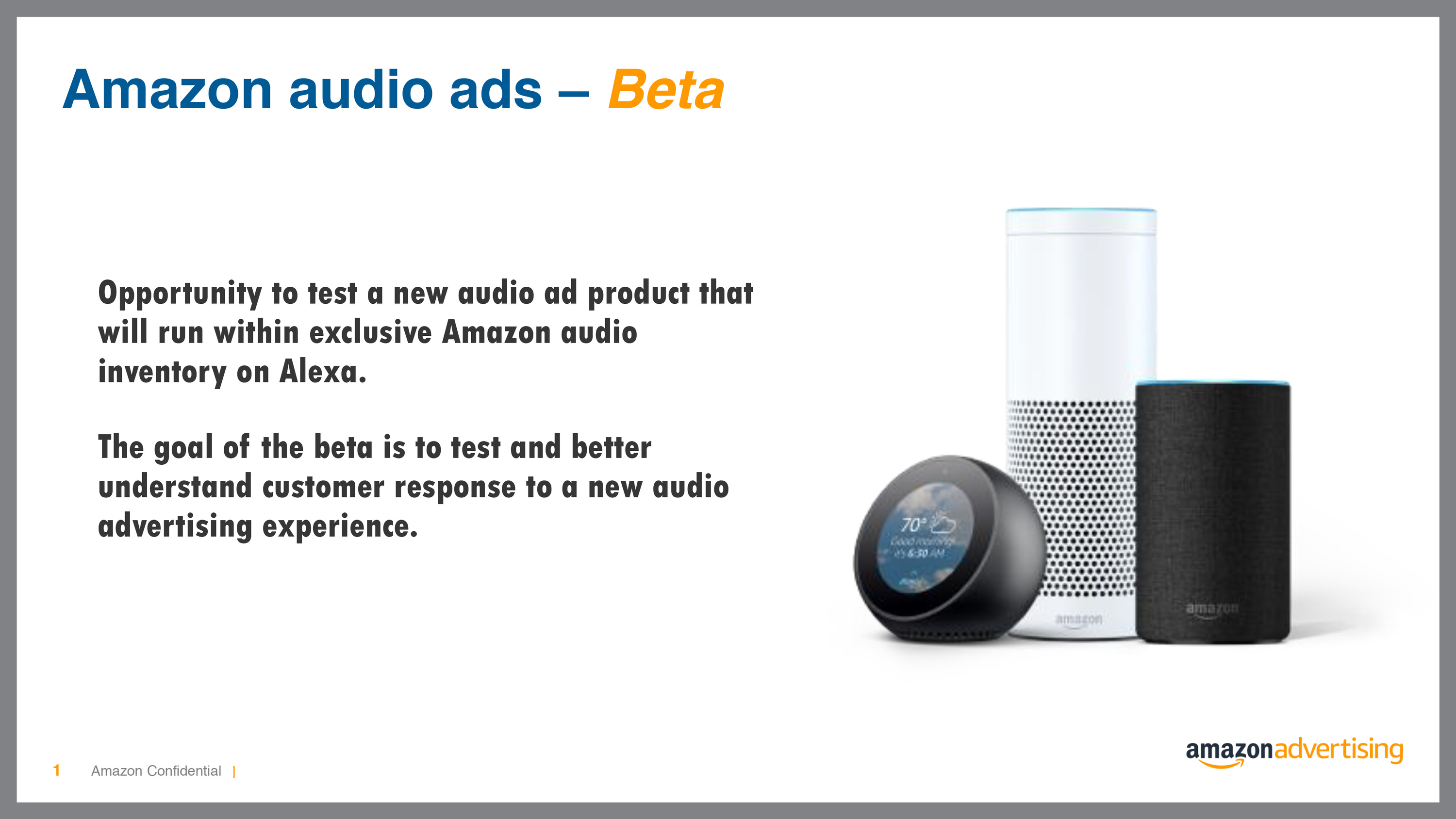 Amazon tests audio ads on alexa music—and here's a look at its pitch