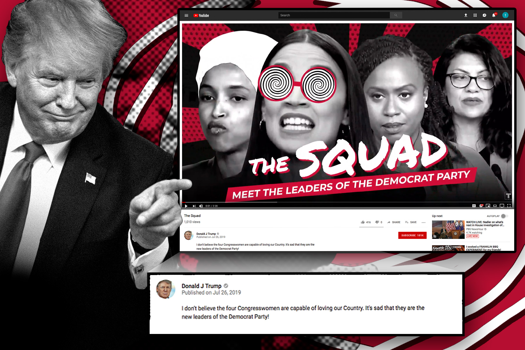 Trump slams 'The Squad' in new animated video