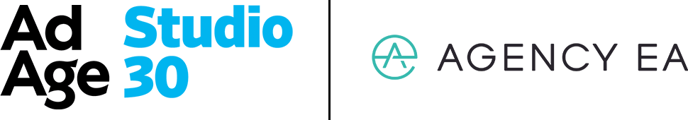 Ad Age logo next to the Agency EA logo separated by a thin line.