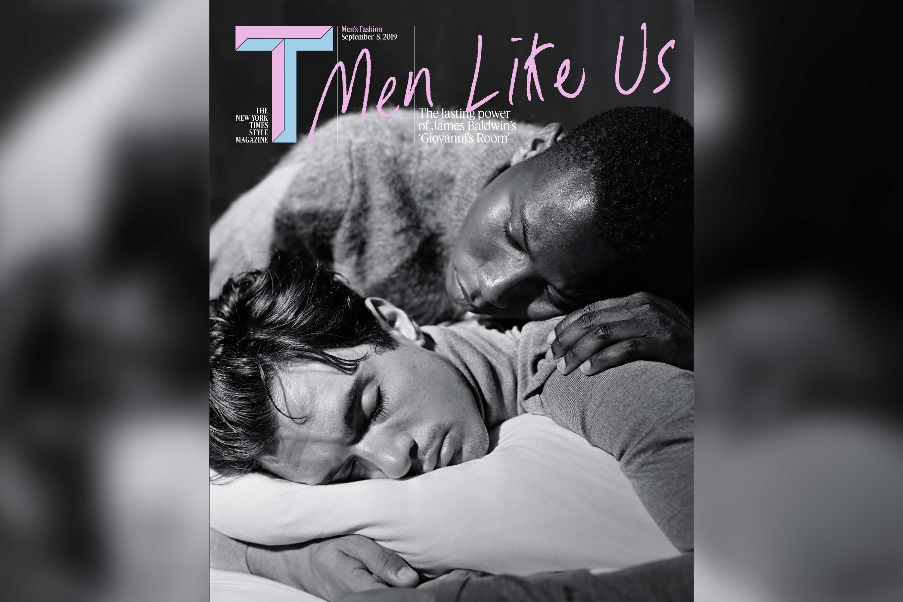 NYT's T magazine celebrates a gay-lit classic with its men's fall fashion issue