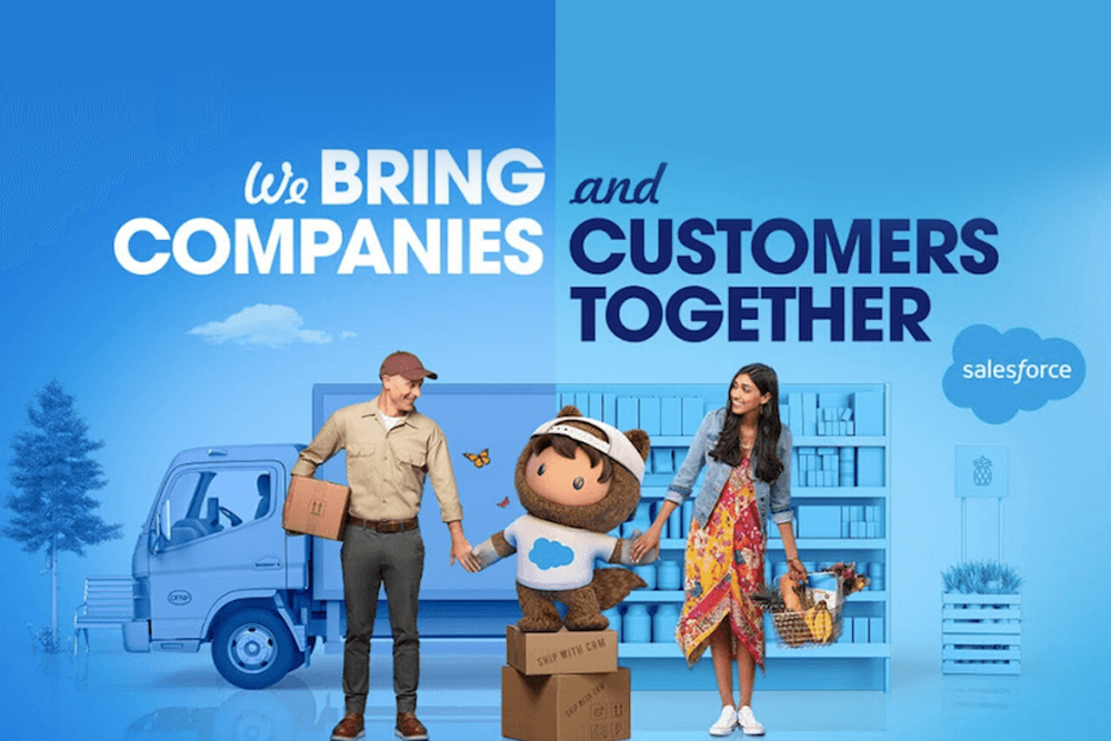 Salesforce's first-ever global ad campaign tells people what it does
