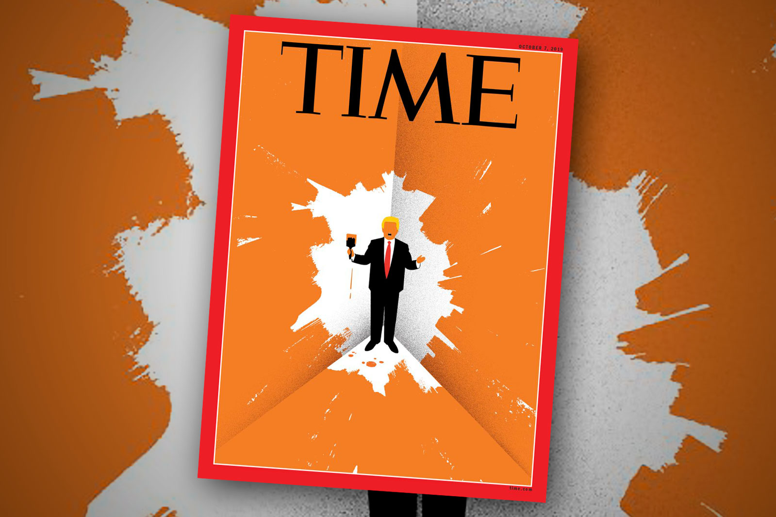 Trump paints himself into a corner on Time's new cover