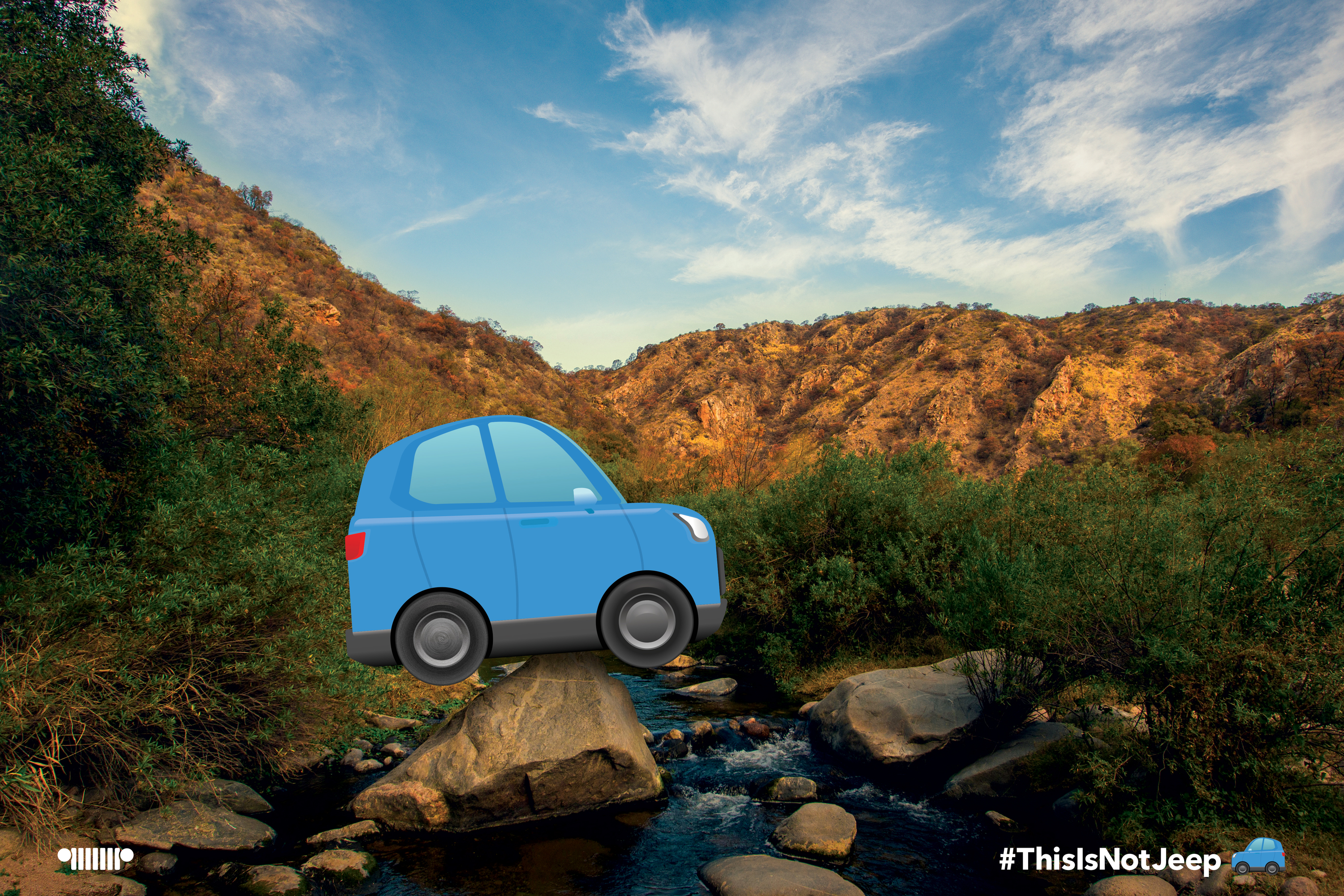 Jeep is liberated from an 'imposter' emoji and celebrates with '#ThisIsNotJeep' campaign