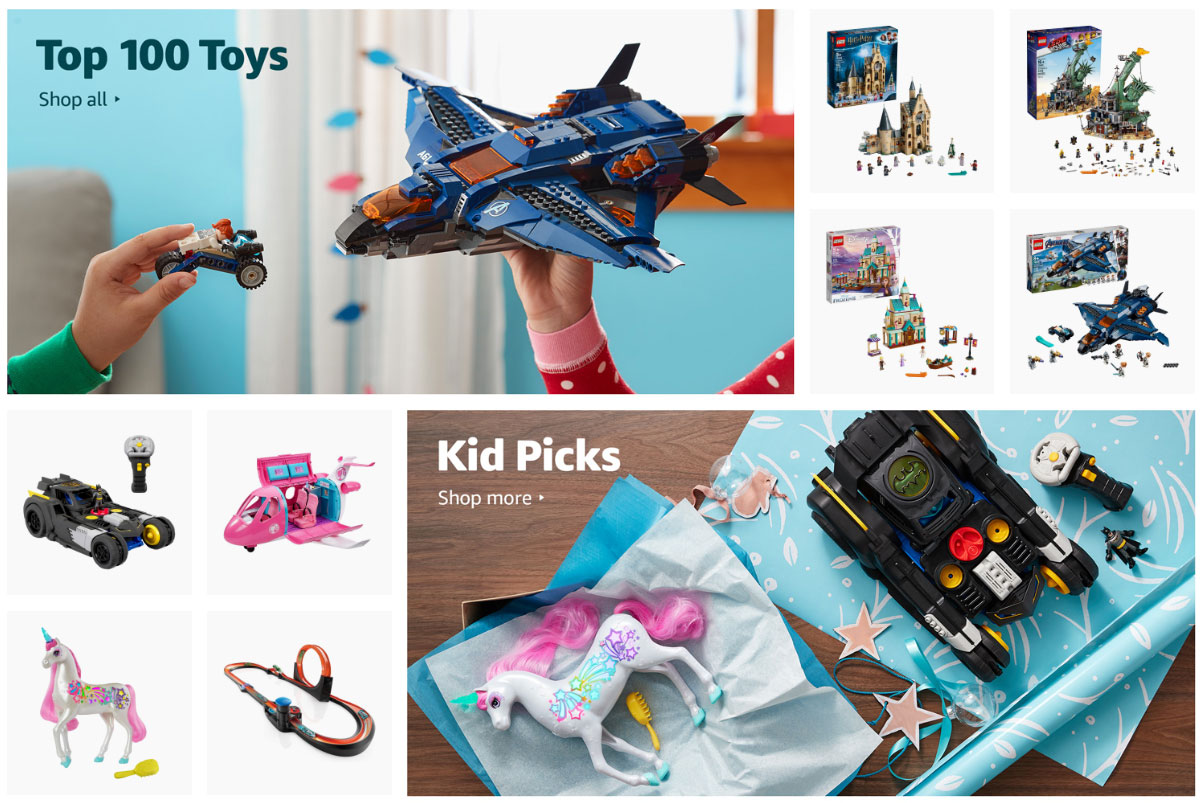 Amazon charges brands top dollar to be in its 'curated' holiday toy guide