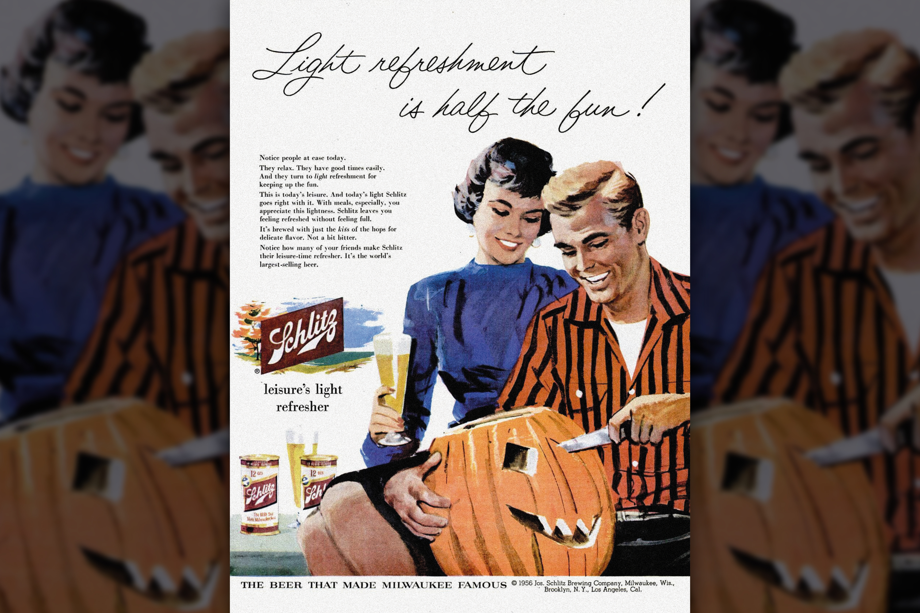 Halloween Schlitz pumpkin carving