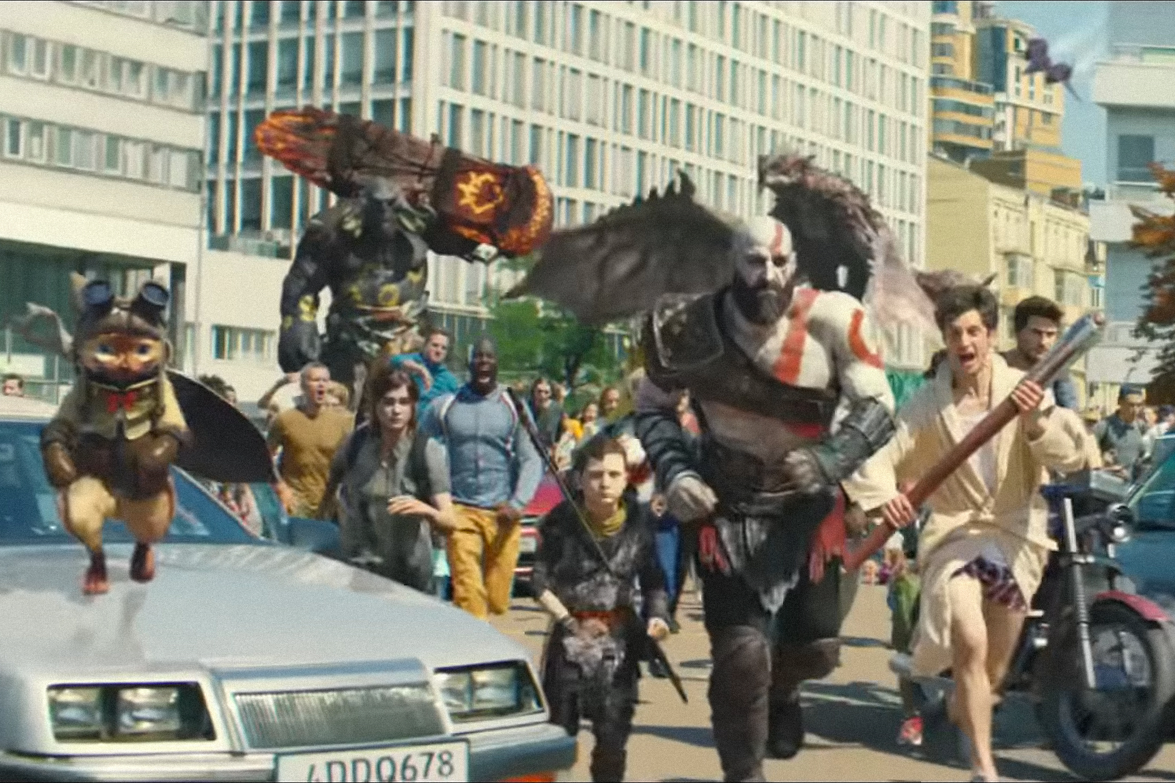Sony Playstation's latest ad is a spectacular riot of gamers and characters