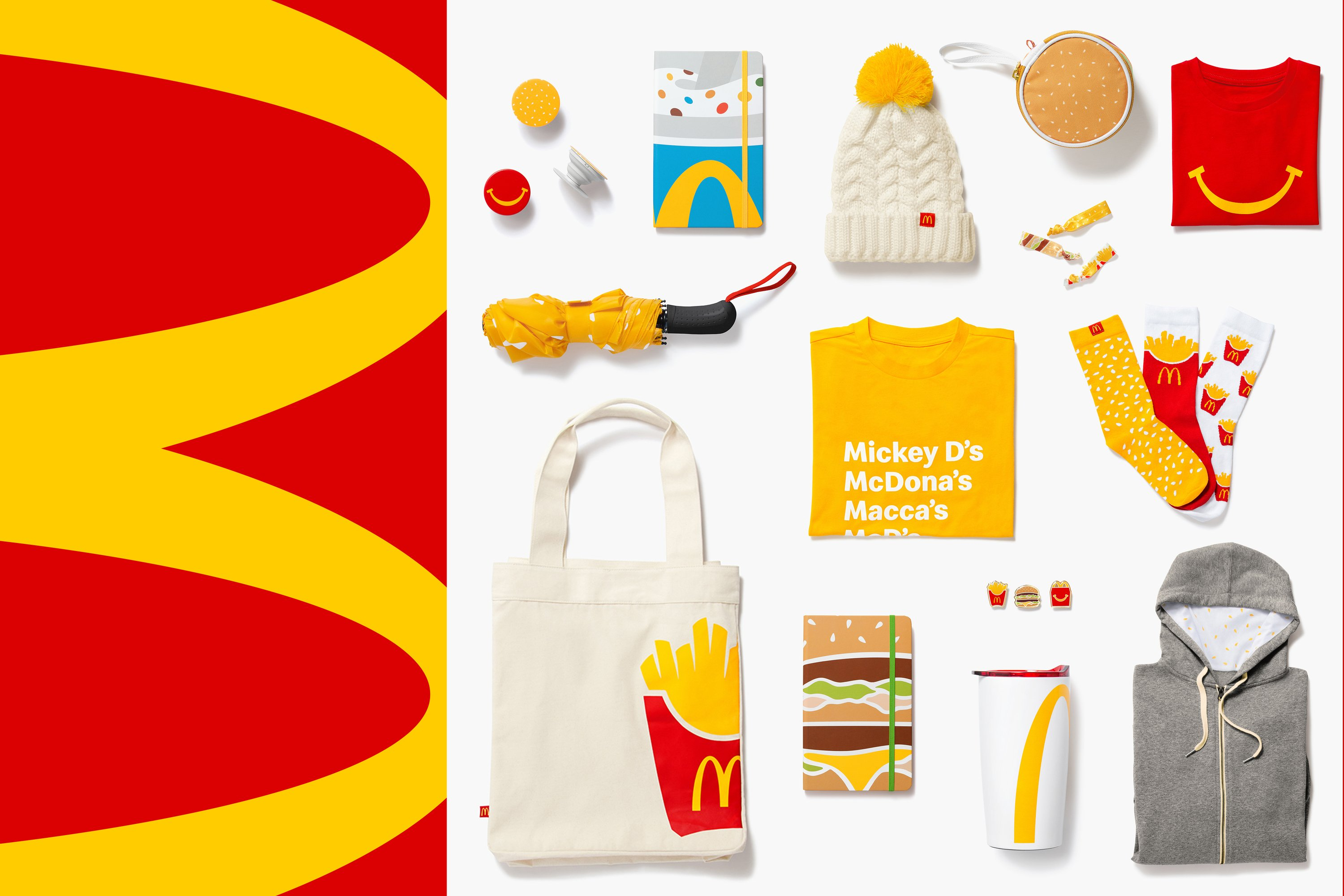 McDonald's is selling merchandise made for its biggest fans, just in time for the holidays