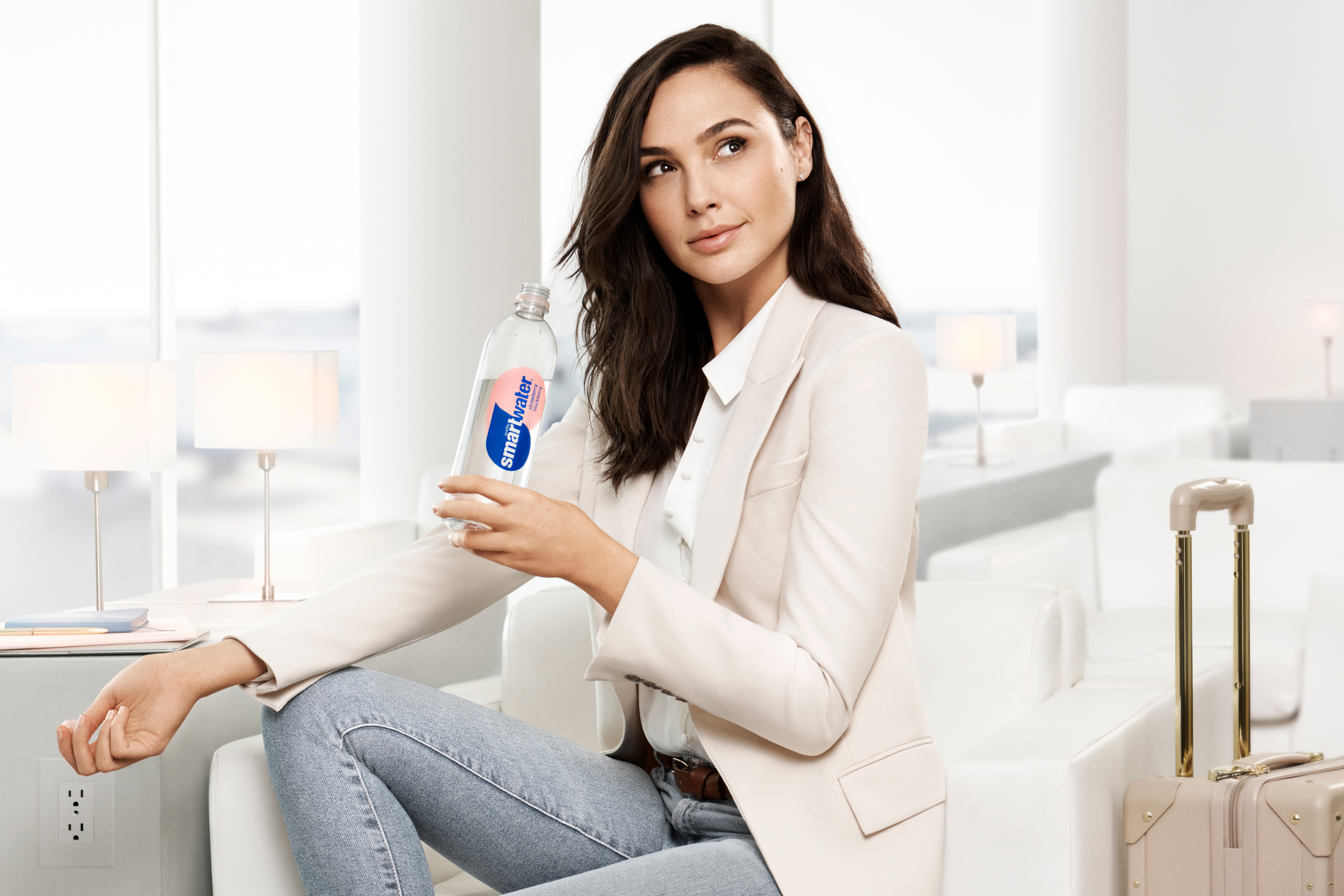 Smartwater Coca Cola North America CCNA Coke premium sparkling flavored water pineapple kiwi watermelon mint strawberry blackberry cucumber lime Gal Gadot Wonder Woman new partnership ad marketing video out of home ooh digital radio experiential TV television commercial Anomaly New York NY agency cr