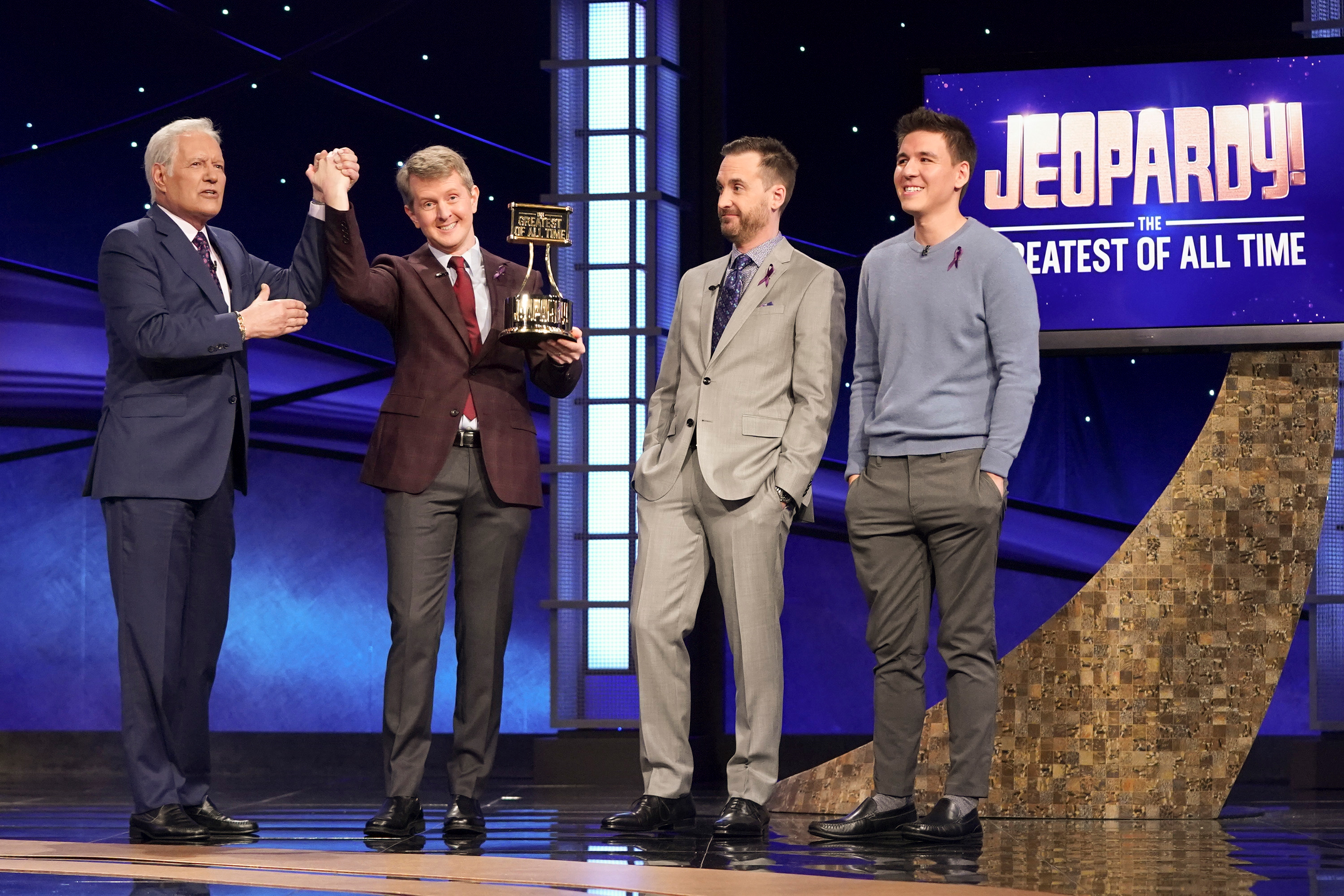 'Jeopardy! Alex Trebek ABC Sony Pictures Television Nielsen Ratings Ken Jennings Brad Rutter McDonald's Target Katy Perry Ryan Seacrest James Holzhauer 'Monday Night Football'