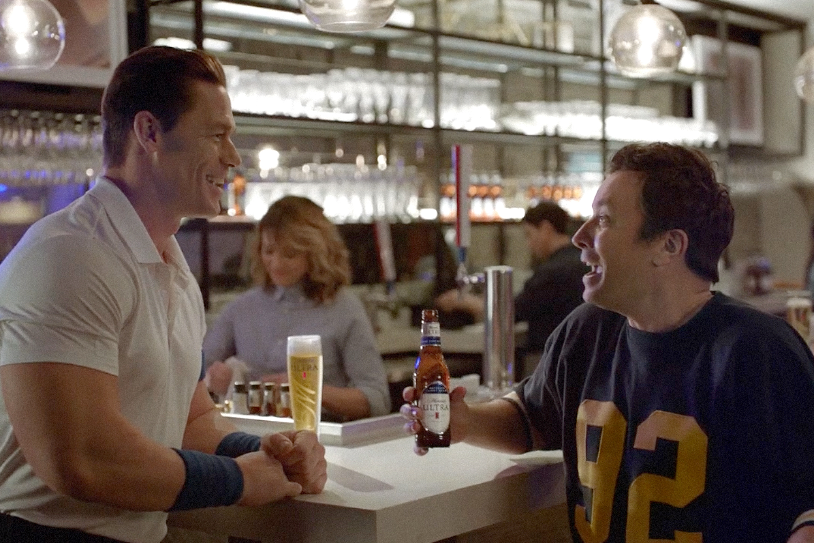 See Jimmy Fallon battle his workout phobia in Super Bowl ad for Michelob Ultra