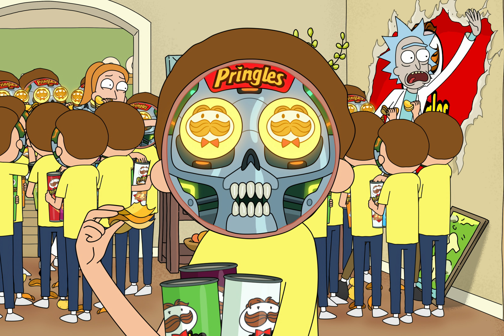 Rick and Morty bring fresh energy to flavor-stacking in Pringles' Super Bowl spot