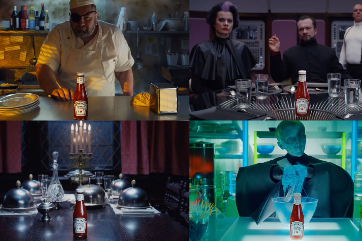 Heinz's Super Bowl commercial features four story lines at once to encourage rewatching