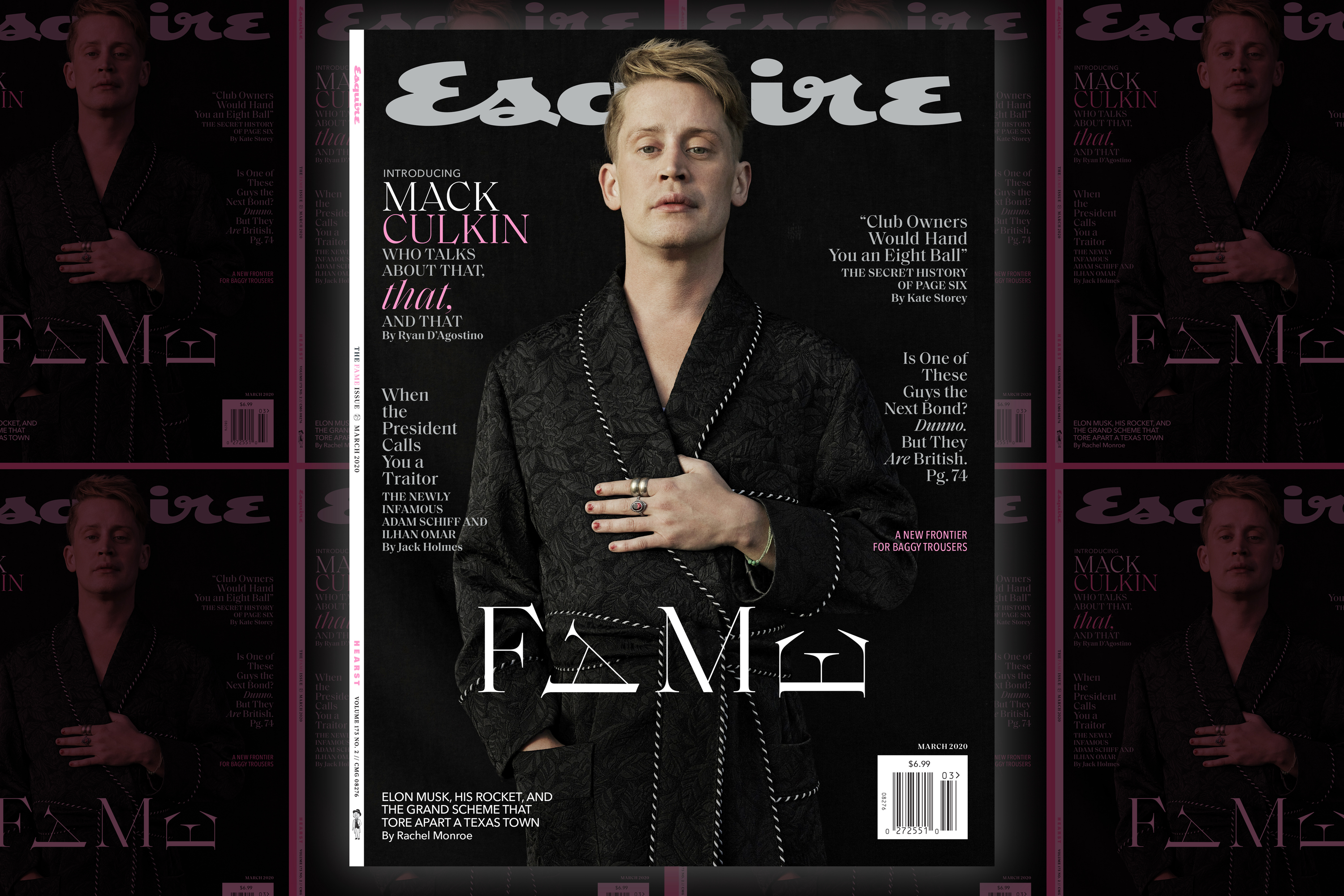 Macaulay Culkin fronts the redesigned March issue of Esquire
